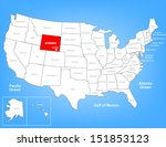 vector map of the united states ... | Shutterstock .eps vector #151853123