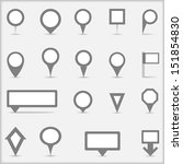 collection of simple gray map... | Shutterstock . vector #151854830