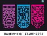 dia de los muertos mean day of... | Shutterstock .eps vector #1518548993