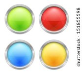set of four round buttons