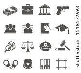 Justice And Law Vector Glyph...