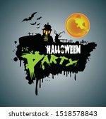 happy halloween poster. vector... | Shutterstock .eps vector #1518578843