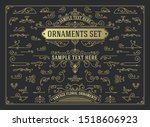 antique set of swirls and... | Shutterstock .eps vector #1518606923