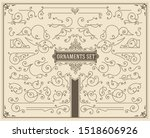vintage swirls and scrolls... | Shutterstock .eps vector #1518606926