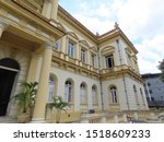 outside of old buildings in manaus showing rich detail of 1890s architecture.