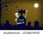 halloween party invitation card ... | Shutterstock .eps vector #1518619433