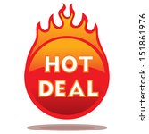 this vector flaming icon is... | Shutterstock .eps vector #151861976