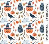 watercolor seamless pattern... | Shutterstock . vector #1518620999