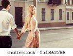 Young Fashion Couple Walking...