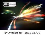 night city. light tracing. | Shutterstock .eps vector #151863773