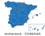 spain map | Shutterstock .eps vector #151864160