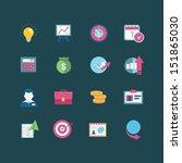 business icon set | Shutterstock .eps vector #151865030