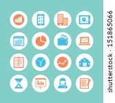 business icon set | Shutterstock .eps vector #151865066