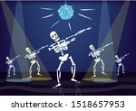 skeletons are dancing with... | Shutterstock .eps vector #1518657953