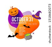 halloween party lable isolated...