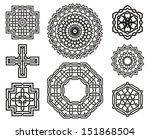 set of celtic knot symbols ... | Shutterstock .eps vector #151868504