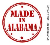 Made in Alabama grunge rubber stamp, vector illustration