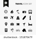 modern travel vacations and... | Shutterstock .eps vector #151870679