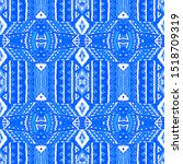 ethnic pattern bright. seamless ... | Shutterstock . vector #1518709319