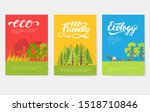 ecology information cards set.... | Shutterstock .eps vector #1518710846