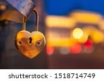 Padlock In The Shape Of A Heart....