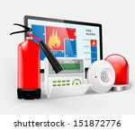access   fire alarm  security... | Shutterstock .eps vector #151872776