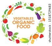vegetables organic food healthy ...   Shutterstock .eps vector #1518729683