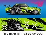 car wrap or decal vinyl sticker ... | Shutterstock .eps vector #1518734000