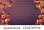 halloween  background with... | Shutterstock .eps vector #1518749276