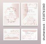 wedding invitation   save the... | Shutterstock .eps vector #1518761060