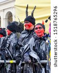 Small photo of Warsaw - January 2013: Performance by artists, impolite power and other devils. Epiphany or Three Kings Day in Poland.