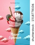 funny ice cream cone ads with...   Shutterstock .eps vector #1518778106