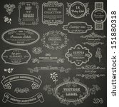 set of vintage design elements... | Shutterstock .eps vector #151880318