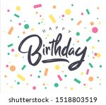 happy birthday typography... | Shutterstock .eps vector #1518803519