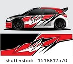 rally car decal graphic wrap... | Shutterstock .eps vector #1518812570