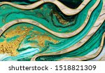 green and gold marble pattern | Shutterstock . vector #1518821309