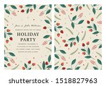 holiday party invitation... | Shutterstock .eps vector #1518827963