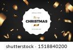 merry christmas black... | Shutterstock .eps vector #1518840200