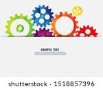 abstract techno gear background ... | Shutterstock .eps vector #1518857396