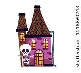 trick or treat   happy halloween   Shutterstock .eps vector #1518860243