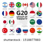 g20 . group of twenty countries ... | Shutterstock .eps vector #1518877883
