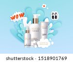 mockup of realistic 3d...   Shutterstock .eps vector #1518901769