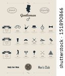 gentleman set. infographics.... | Shutterstock .eps vector #151890866