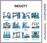 industry machine icon isolated... | Shutterstock .eps vector #1518918989