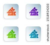 color cinema ticket icon... | Shutterstock .eps vector #1518924203