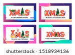 xmas corporate celebration... | Shutterstock .eps vector #1518934136