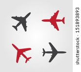 airplanes icons | Shutterstock .eps vector #151893893