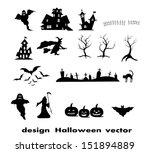 halloween design elements | Shutterstock .eps vector #151894889