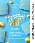 merry christmas party flyer... | Shutterstock .eps vector #1518962066