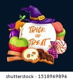 halloween trick or treat sweets ... | Shutterstock .eps vector #1518969896